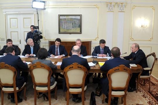 Председатель Правительства Российской Федерации В.В.Путин провёл совещание по реализации задач, поставленных в его предвыборной статье «Демократия и качество государства»